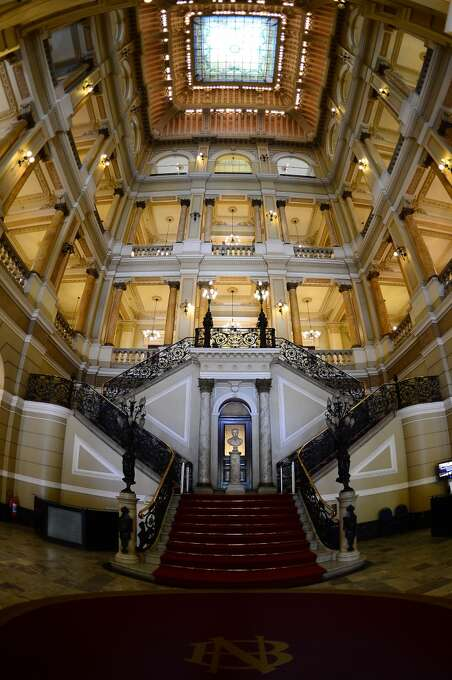The stately National Library of Brazil, in Rio de Janeiro, was founded in 1808. Photo: Christophe Simon, AFP/Getty Images