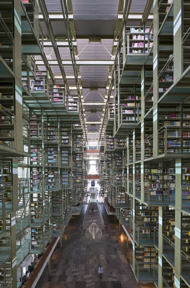 Mexico City's glass and steel Biblioteca Vasconcelos, dubbed the Megabiblioteca (megalibrary), opened in 2006. Photo: View Pictures, UIG Via Getty Images