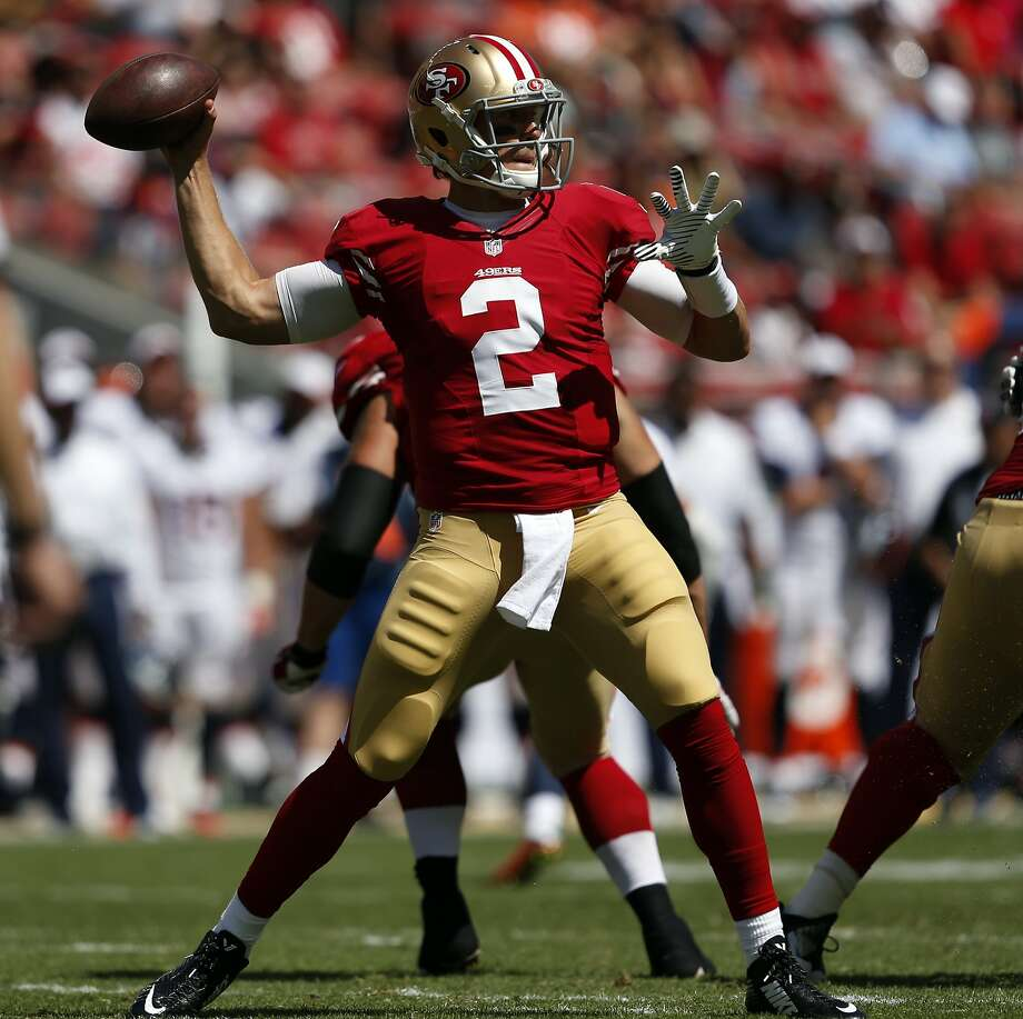 Blaine Gabbert was 8-0f-14 for 40 yards Sunday against Denver. Photo: Scott Strazzante, The Chronicle