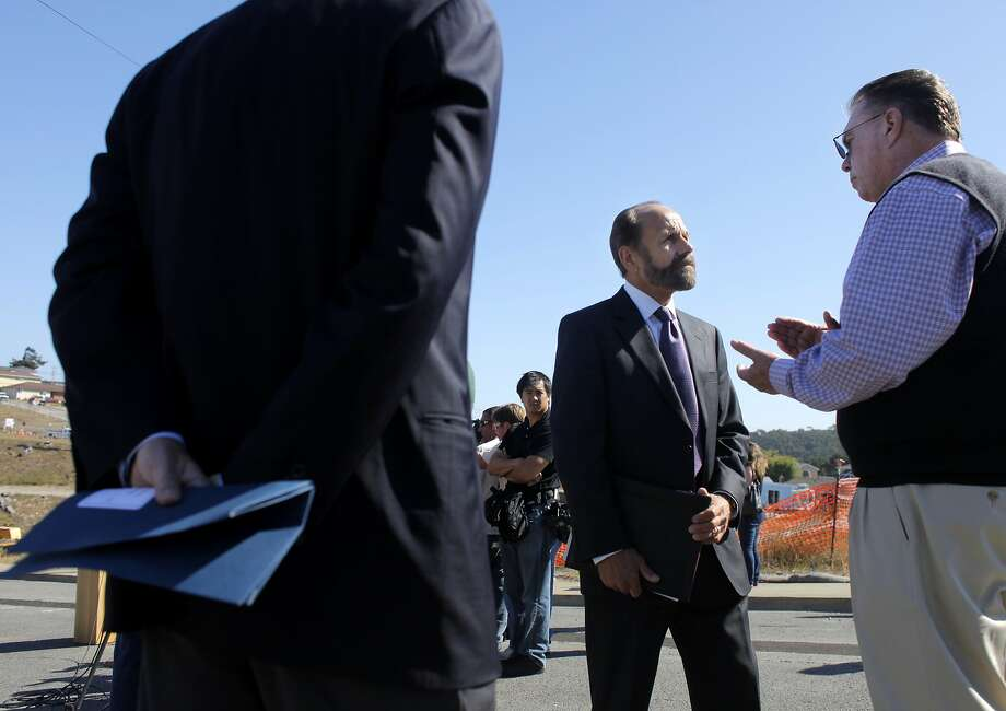 PUC critics state Sen. Jerry Hill (left) and San Bruno Mayor Jim Ruane. Photo: Lacy Atkins, The Chronicle