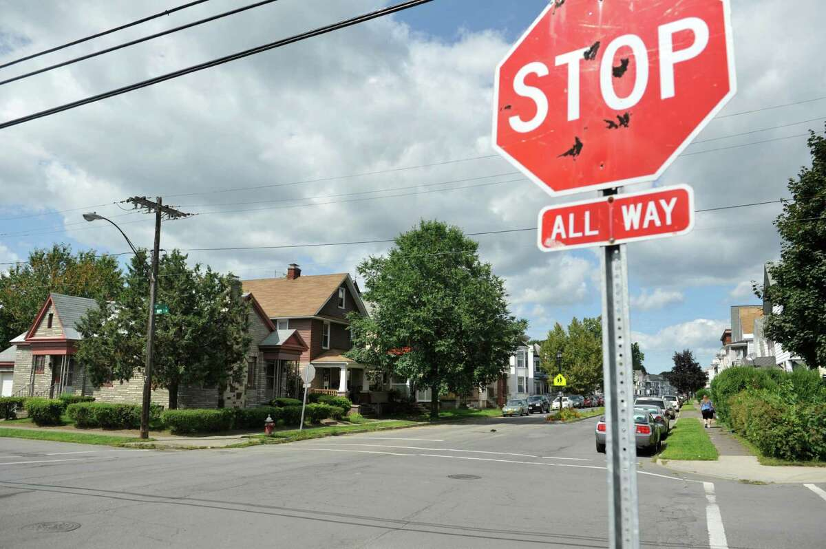 A view looking north along 6th Ave. near the intersection with 102nd St. on Monday, Aug. 18, 2014, in Troy, N.Y. (Paul Buckowski / Times Union)