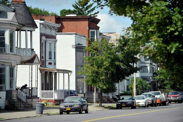 A view looking north on the 100-block of 5th Ave. on Monday, Aug. 18, 2014, in Troy, N.Y.   (Paul Buckowski / Times Union) Photo: Paul Buckowski / 00028221A