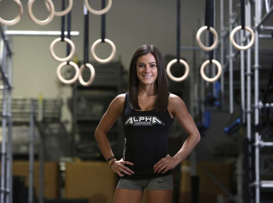 """Kacy Catanzaro, the 5-feet-tall woman who made history on """"American Ninja Warrior"""" and who went viral with her feats, lives and trains in San Antonio. Photo: Helen L. Montoya, San Antonio Express-News"""
