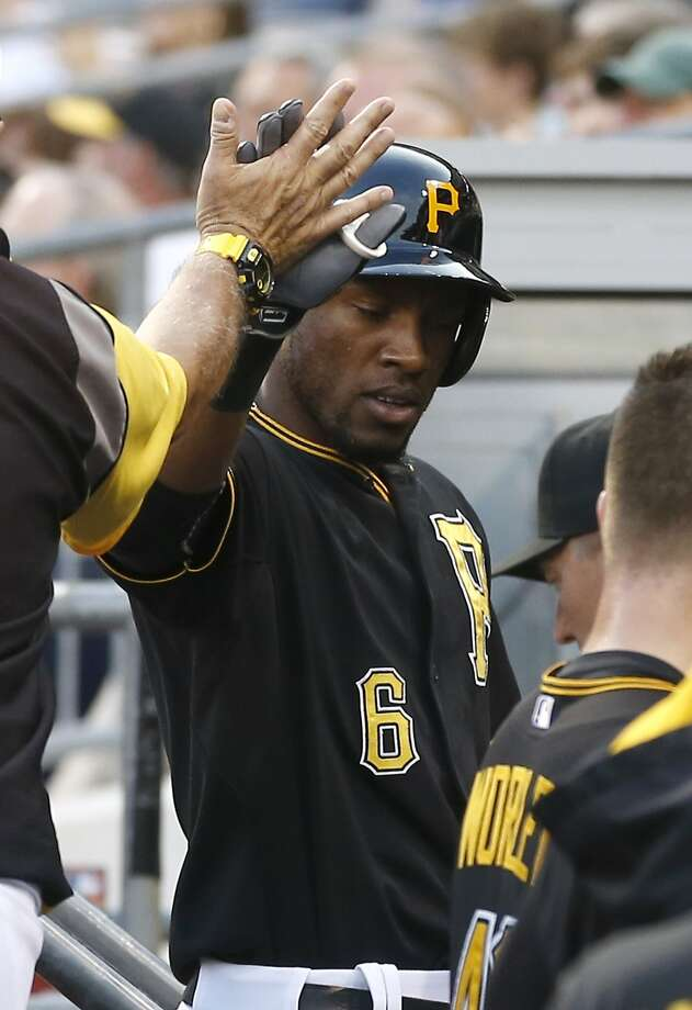 Pittsburgh outfielder Starling Marte had two homers and a double in the Pirates' loss to the Braves. Photo: Keith Srakocic, Associated Press