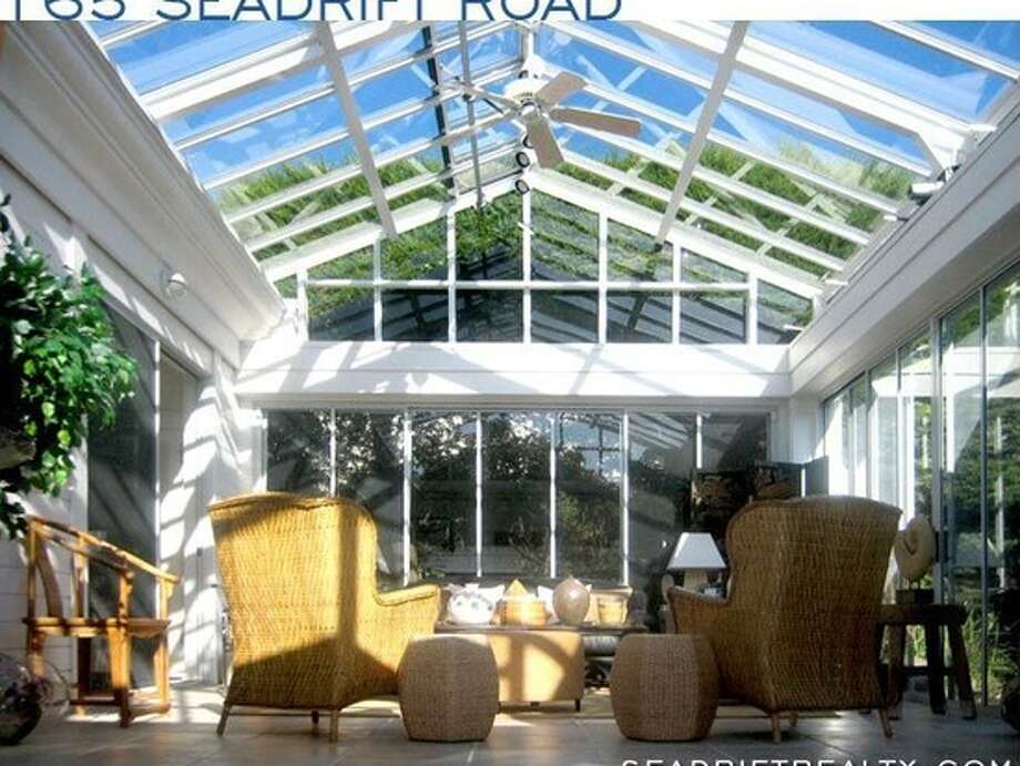 The large solarium in 165 Seadrift, which Steel sold in 2008. Photo: MLS