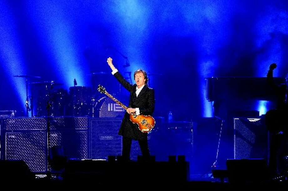 "Paul McCartney opened his ""Out There"" tour April 19 in Montevideo, Uruguay. Getty Images photo."