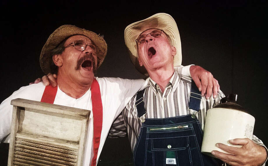 "Robert Pulido (left) and Bobby G. Perkins appear in ""Hee Haw: Live!"" at the Rose Theatre Company. Photo: Courtesy Rose Theatre Co."