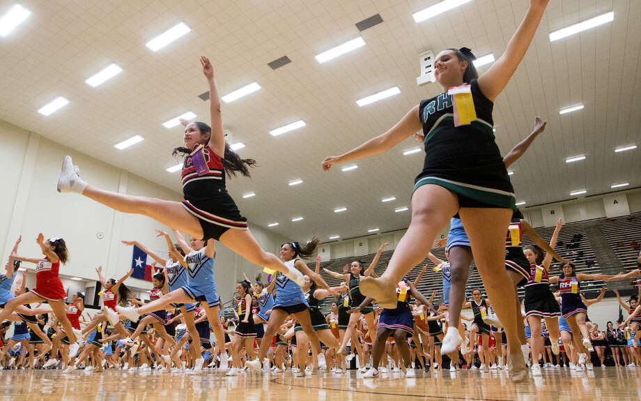 Incoming freshmen at schools across the district perform in a showcase for families and friends during the annual NEISD Summer Pep Squad Camp last week. Photo: Marvin Pfeiffer / EN Communities / EN Communities 2014