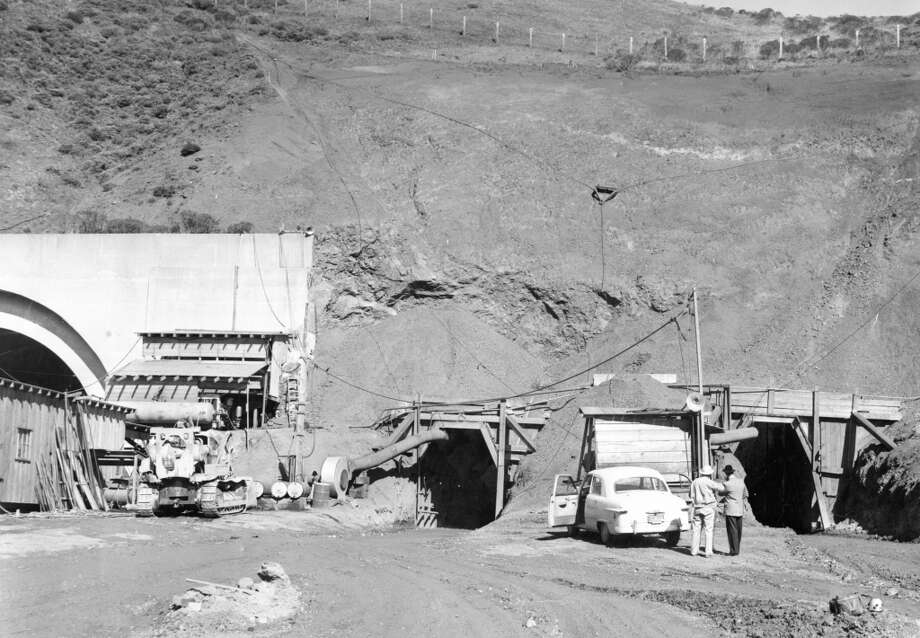 Feb. 28, 1954: The second bore of the Waldo Tunnel in the early stages. Photo: Art Frisch, The Chronicle