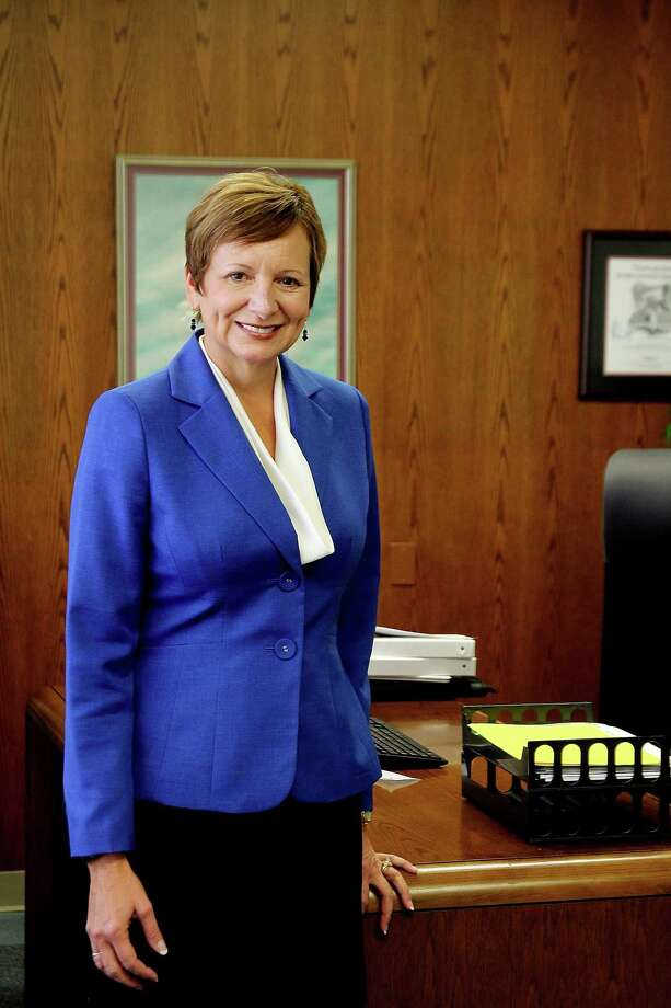 Christal M. Albrecht, new president of Alvin Community College. Photo by Pin Lim. Photo: Pin Lim, Freelance / Copyright Pin Lim.