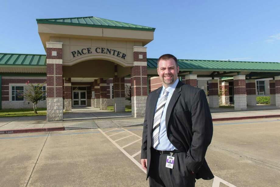 """John Palombo is the new principal at PACE Center, Pearland school district's alternative learning academy. """"It's challenging, but I really enjoy it,"""" he says. """"It's all about helping students believe in themselves."""" Photo: ÂKim Christensen, Photographer / ©Kim Christensen"""