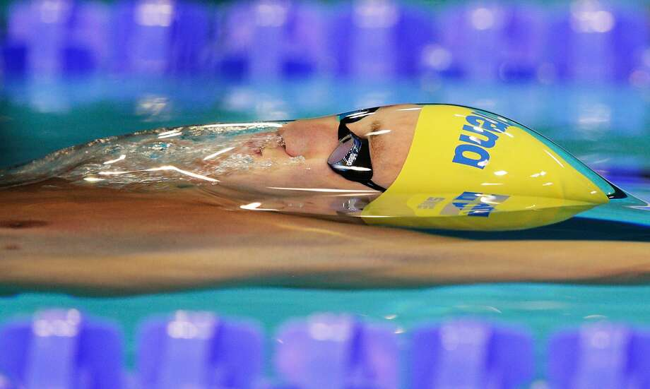 BERLIN, GERMANY - AUGUST 18:  Mattias Carlsson of Sweden swims the Men's 100m Backstroke semi finals at Europa-Sportpark on August 18, 2014 in Berlin, Germany.  (Photo by Adam Pretty/Bongarts/Getty Images) *** BESTPIX *** Photo: Adam Pretty, Bongarts/Getty Images