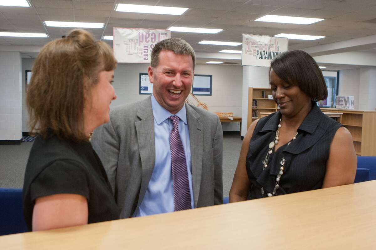 Principal Jason Catchings and associate principals Frances Brooks, left, and Stephanie Crook will guide Westbury High School in its first year as Houston school district's first Advanced Placement campus.