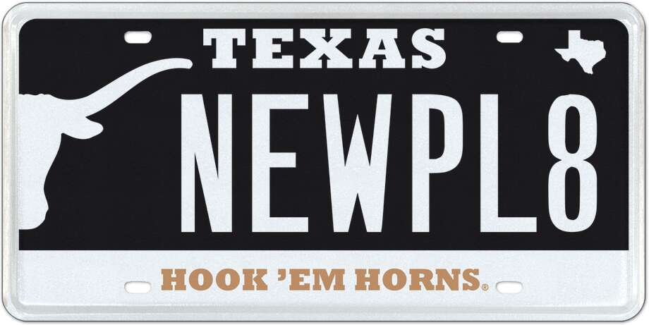 My Plates has given The University of Texas official license plates a makeover. Redesigned to improve legibility, the two new designs harness a number of the key characteristics of the University, from the UT Tower, the Texas Longhorns, the ever popular University of Texas burnt orange and Hook'em Horns.  These new designs will be available to purchase early September, 2014. Photo: MyPlates.com