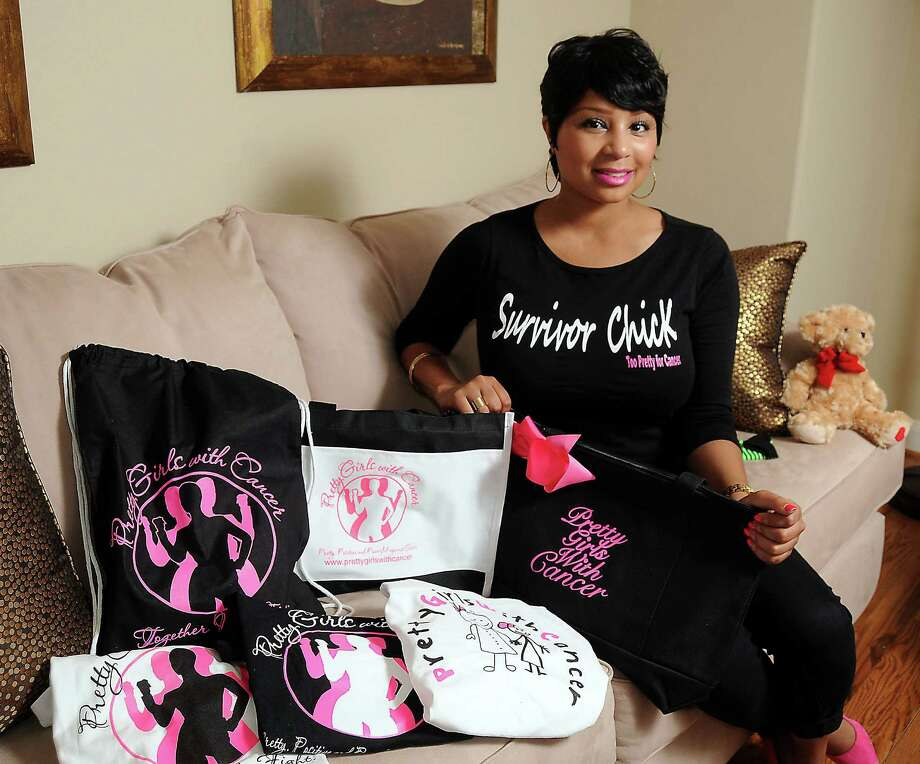 Three-time cancer survivor and Pretty Girls with Cancer founder Kandice Rose with some of her chairty's items Friday Aug. 08, 2014.(Dave Rossman photo) Photo: Dave Rossman, Freelance / © 2014 Dave Rossman