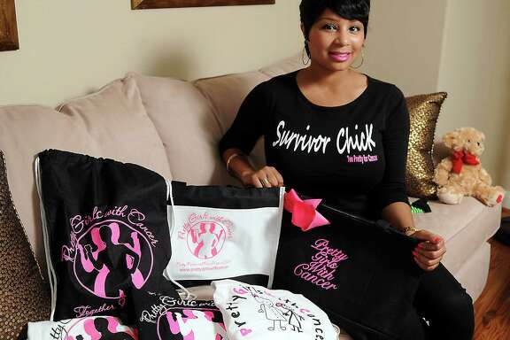 Three-time cancer survivor and Pretty Girls with Cancer founder Kandice Rose with some of her chairty's items Friday Aug. 08, 2014.(Dave Rossman photo)