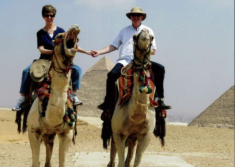 A trip to Egypt sounded like a good idea to Frank and Judy Law, who always had been fascinated by the country. They rode camels near the pyramids at the Giza Necropolis, near Cairo.