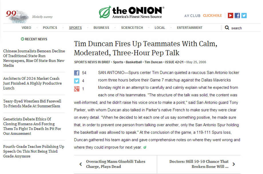Hits (And Misses) From My Writing Class With The Onion