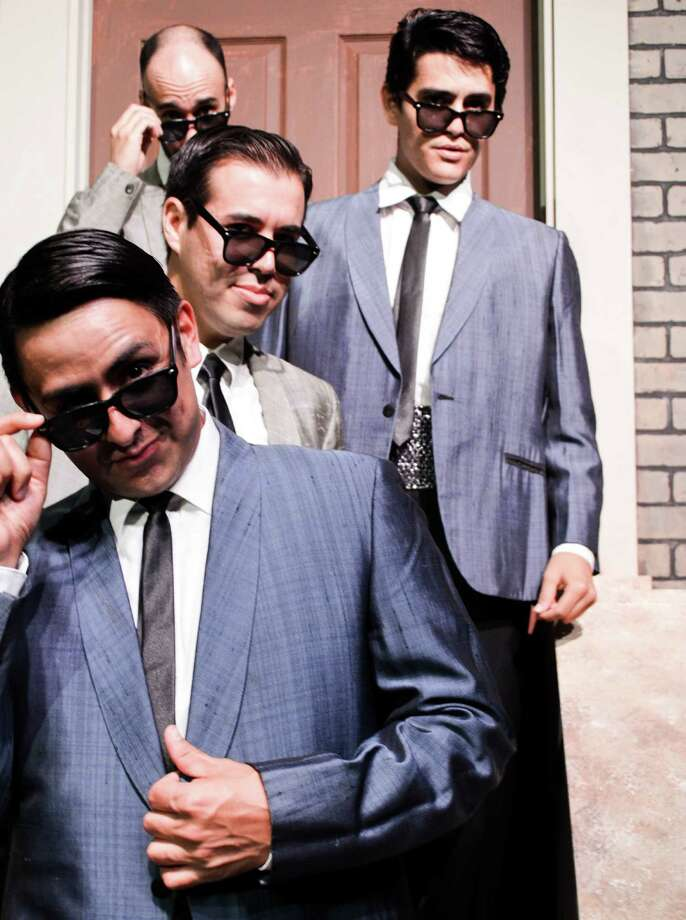 "Miguel Ochoa (from front), Jerry Cordova, Eric Garcia and Auggie Rodrigues appear in ""Smokey Joe's Café."" Photo: Courtesy Andrea Medina"