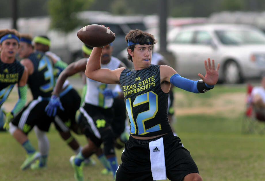 The Woodlands starting quarterback Matt Bonaguidi honed his skills during 7-on-7 play this summer. Photo: Jerry Baker, Freelance