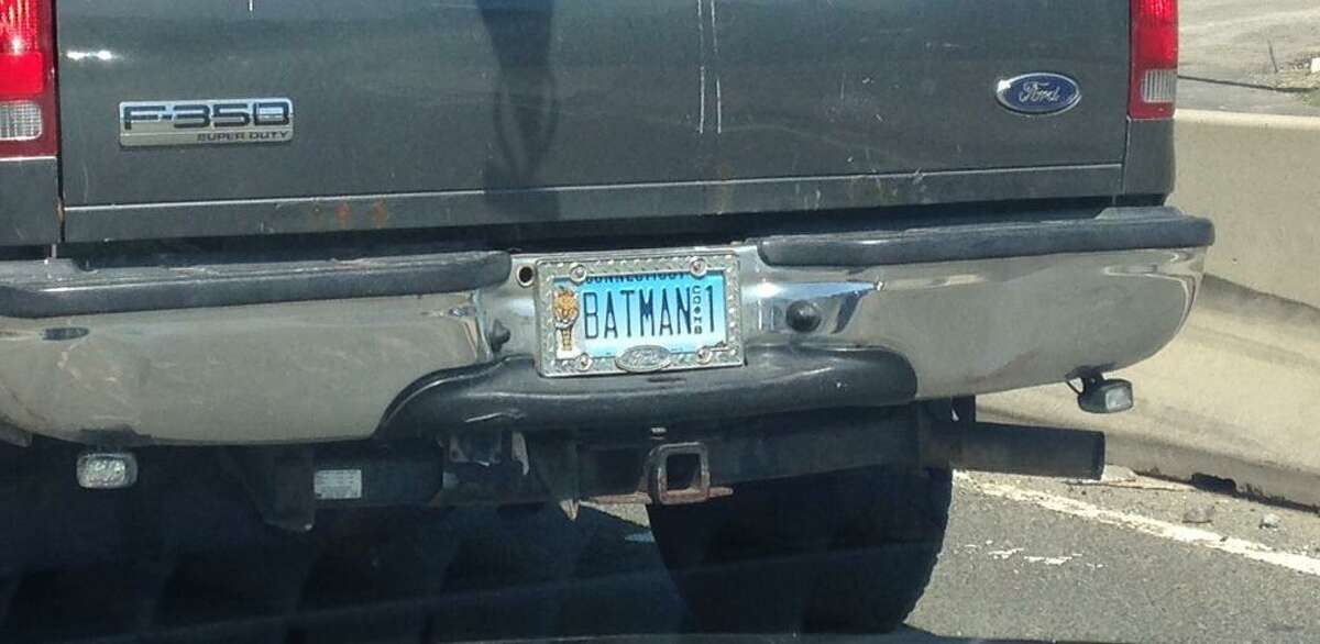 Batman summers in Connecticut, apparently unconcerned about keeping a low profile.
