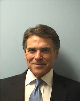 Gov. Rick Perry's booking photo taken Aug. 19, 2014, at the Travis County Courthouse. Photo: Courtesy Photo.