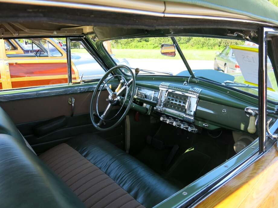 Inside the Town & Country convertible.