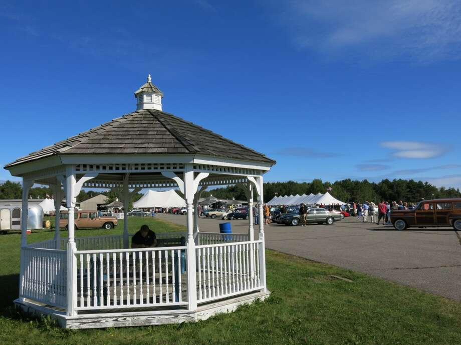 Gazebo near the auction tent, with seats for spectators.