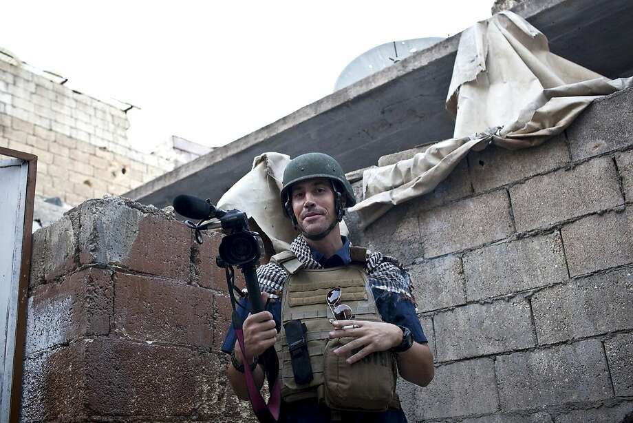 Journalist James Foley is shown in Aleppo, Syria, in November 2012, the month that he went missing. Photo: Nicole Tung, Associated Press