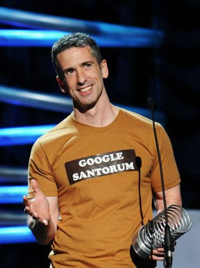 "Remember when Dan Savage licked door knobs?   Well, we all love Mr. Savage, but he's constantly dragging our introverted, passive-happy selves into one national controversy after another.   Just remember ""santorum"" and we're solid or maybe all wet on this one.  Photo: Dan Savage has mercilessly baited anti-gay politicians, from religious-right presidential candidate Gary Bauer more than a decade ago to ex-Sen. Rick Santorum in 2012. (Photo: Jamie McCarthy, Getty Images For The Webby Award)"