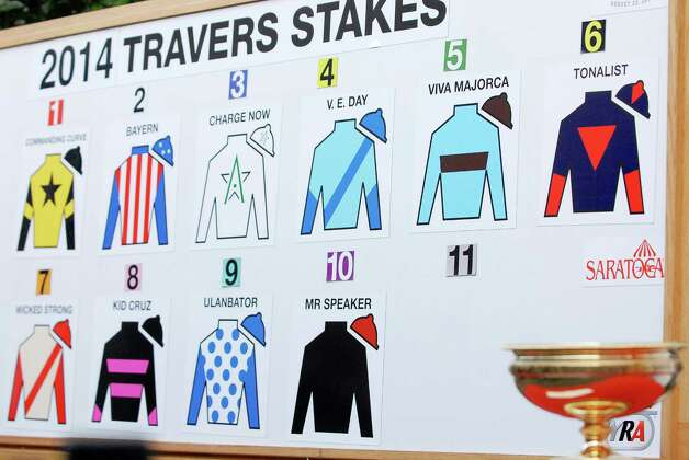 The press conference for the Saratoga Race Course Travers Draw, which will be held this Saturday August 23rd, 2014.             Thursday, Aug. 19, 2014, at Druthers in Saratoga Springs, N.Y. (Erica Miller/ Special to the Times Union) Photo: Erica Miller /  ©Tom Brenner/ Albany Times Union