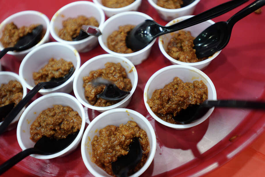 St. Mark's Famous Chili from St. Mark's Episcopal Church. The 12th iteration of A Tasting for Some Other Place was held at the Beaumont Civic Center on Tuesday afternoon. The fundraising event featured 54 booths serving up food and drink to around 2500 guests.