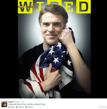 Perry as Edward Snowden Photo: Twitter