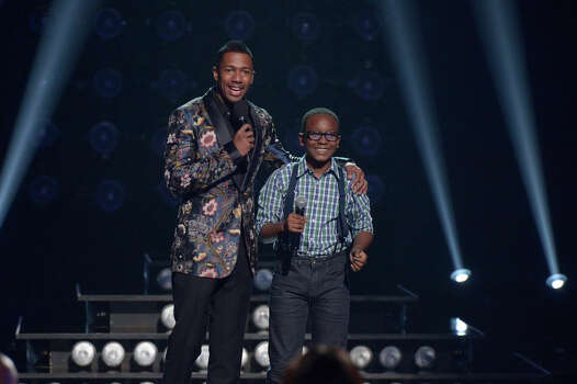 AMERICA'S GOT TALENT -- Episode 916 -- Pictured: (l-r) Nick Cannon, Quintavious Johnson -- (Photo by: Virginia Sherwood/NBC) Photo: NBC, Virginia Sherwood/NBC / 2014 NBCUniversal Media, LLC.