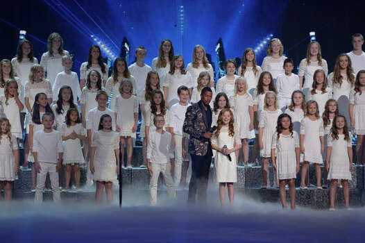 AMERICA'S GOT TALENT -- Episode 916 -- Pictured: (l-r) Nick Cannon, One Voice Children's Choir -- (Photo by: Virginia Sherwood/NBC) Photo: NBC, Virginia Sherwood/NBC / 2014 NBCUniversal Media, LLC.