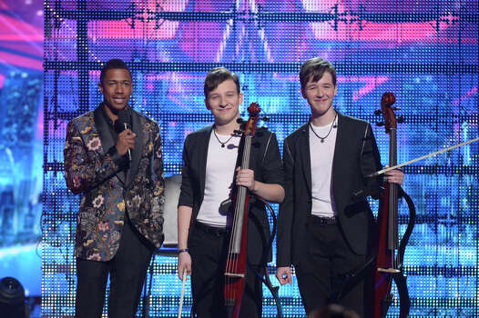 AMERICA'S GOT TALENT -- Episode 916 -- Pictured: (l-r) Nick Cannon, Emil & Dariel -- (Photo by: Virginia Sherwood/NBC) Photo: NBC, Virginia Sherwood/NBC / 2014 NBCUniversal Media, LLC.