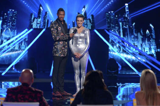 AMERICA'S GOT TALENT -- Episode 916 -- Pictured: (l-r) Nick Cannon, Nina Burri -- (Photo by: Virginia Sherwood/NBC) Photo: NBC, Virginia Sherwood/NBC / 2014 NBCUniversal Media, LLC.