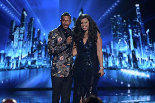 AMERICA'S GOT TALENT -- Episode 916 -- Pictured: (l-r) Nick Cannon, Kelli Glover -- (Photo by: Virginia Sherwood/NBC) Photo: NBC, Virginia Sherwood/NBC / 2014 NBCUniversal Media, LLC.