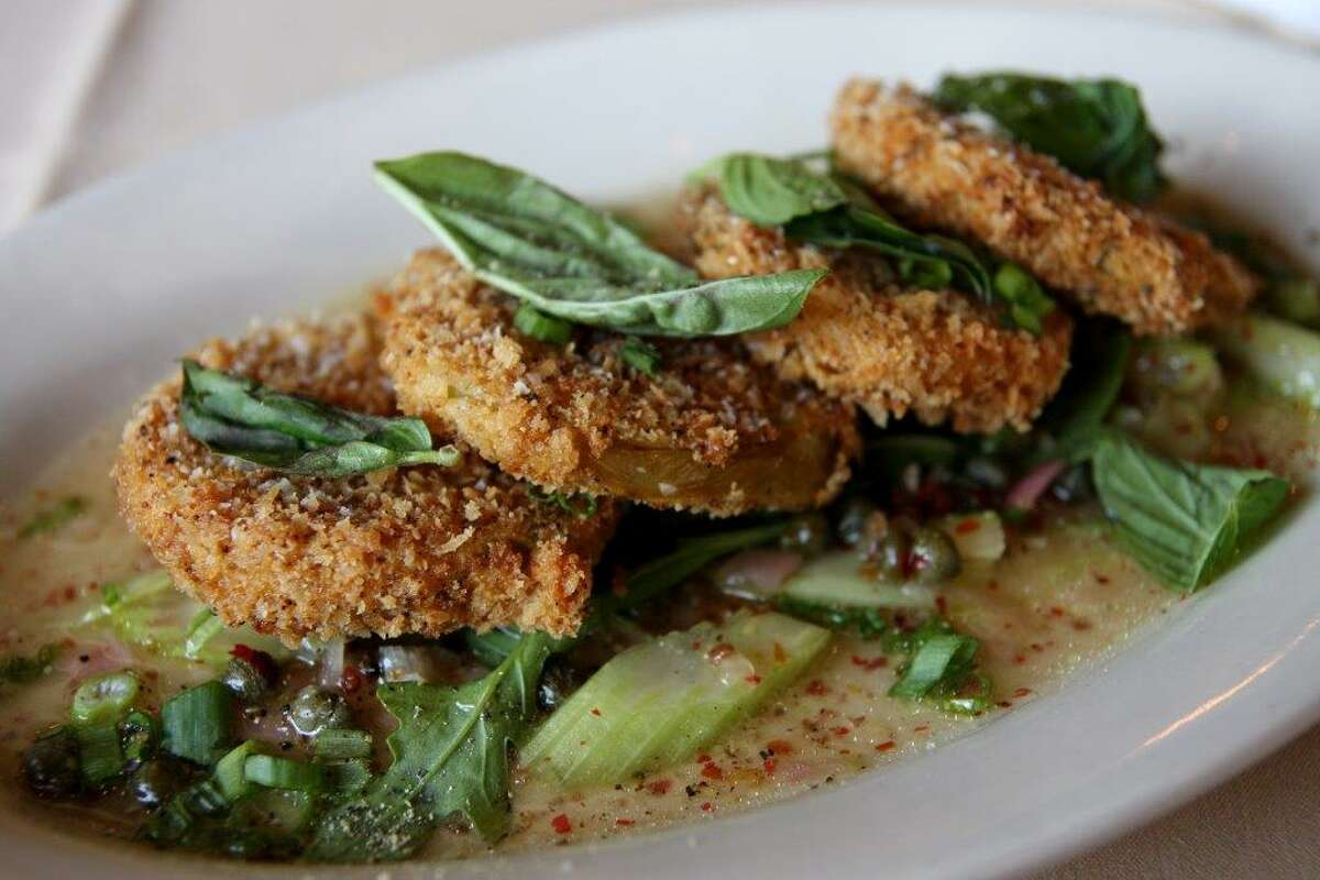 Fried green tomatoes at Roost.