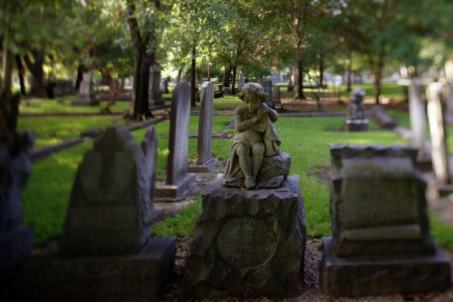 Preservation Houston will offer a public tour of Glenwood Cemtery on Saturday. The tour will explore the design and symbolism behind some of the monuments and statues in the cemetery. Photo: Sharon Steinmann, Staff / Houston Chronicle