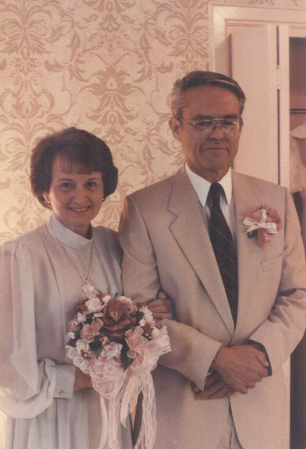 Carol and Allan Jenkins on their wedding day, June 18, 1988. The pendant is Waterford crystal heart and was a gift from Allan before the wedding. He died just a few months later in March 1989. Photo: Courtesy Photo