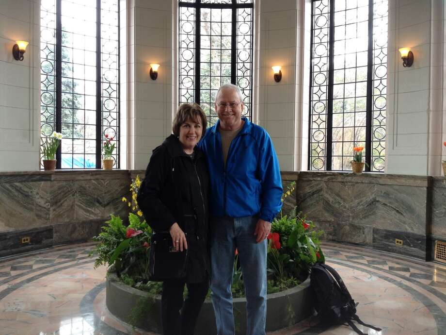 Corinne Yancy Gamel and Alan Gamel in Casa Loma, Toronto Canada, April 2014. Photo: Courtesy Photo