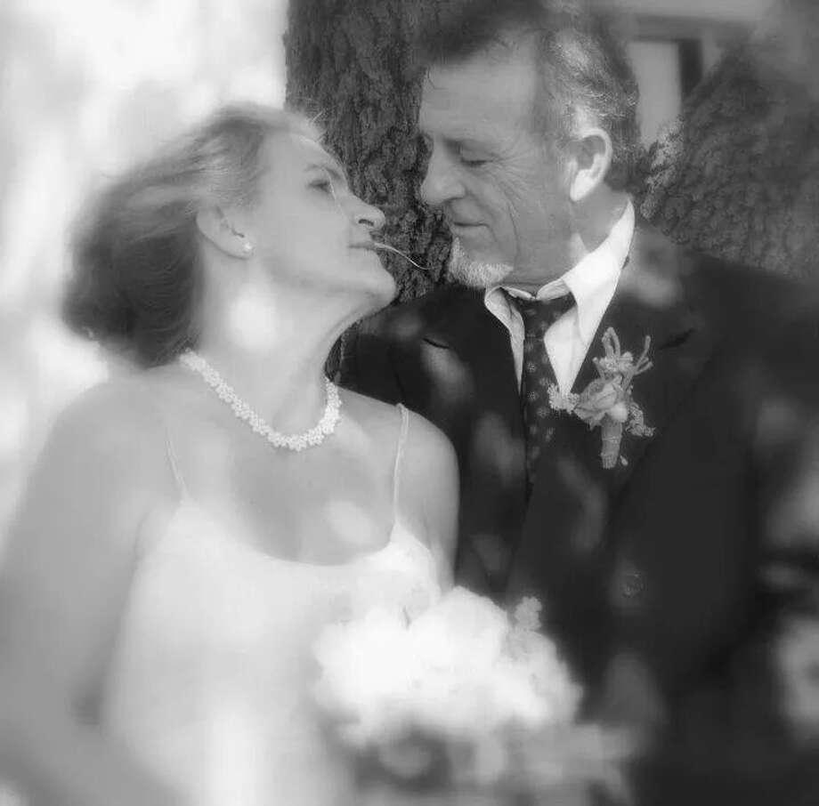Hallie Hammond Lopez and husband Antonio Lopez on their wedding day. Photo: Courtesy Photo