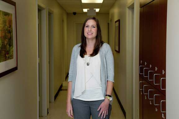 Sabina Chudleigh, a psychiatric social worker at  Memorial Hermann Northeast Hospital. The Hospital has opened the city's first emergency room specifically for mental health patients. (Billy Smith II / Houston Chronicle)