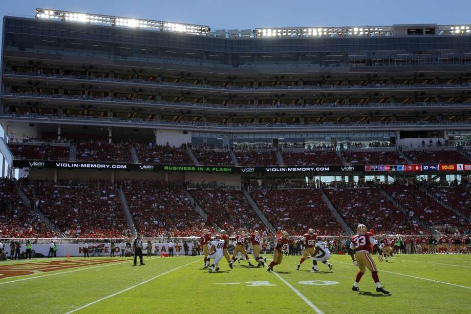 The 49ers on offense in the second half as the 49ers play the Denver Broncos in the first preseason game at Levi's Stadium in Santa Clara, Calif., on Sunday, August 17, 2014. Photo: Carlos Avila Gonzalez, The Chronicle