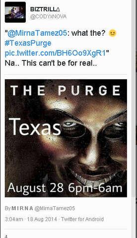 Purge coming to Texas? Social media says so - Houston Chronicle