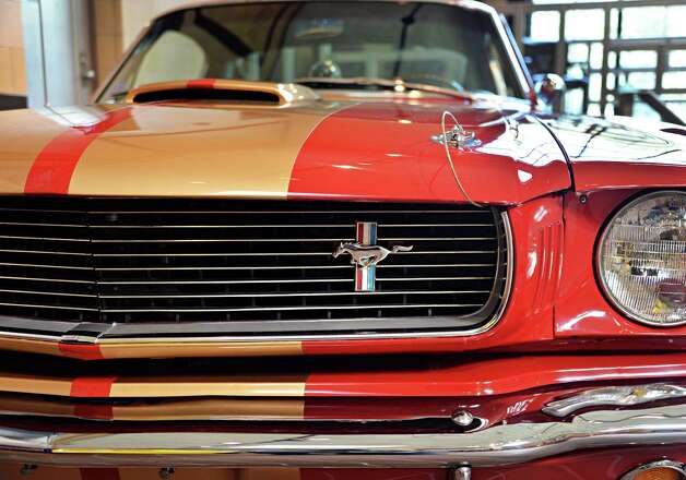 A 1966 Shelby GT350H Mustang on display at the Saratoga Auto Museum Thursday June 19, 2014, in Saratoga Springs, NY.  (John Carl D'Annibale / Times Union) Photo: John Carl D'Annibale / 00027432A