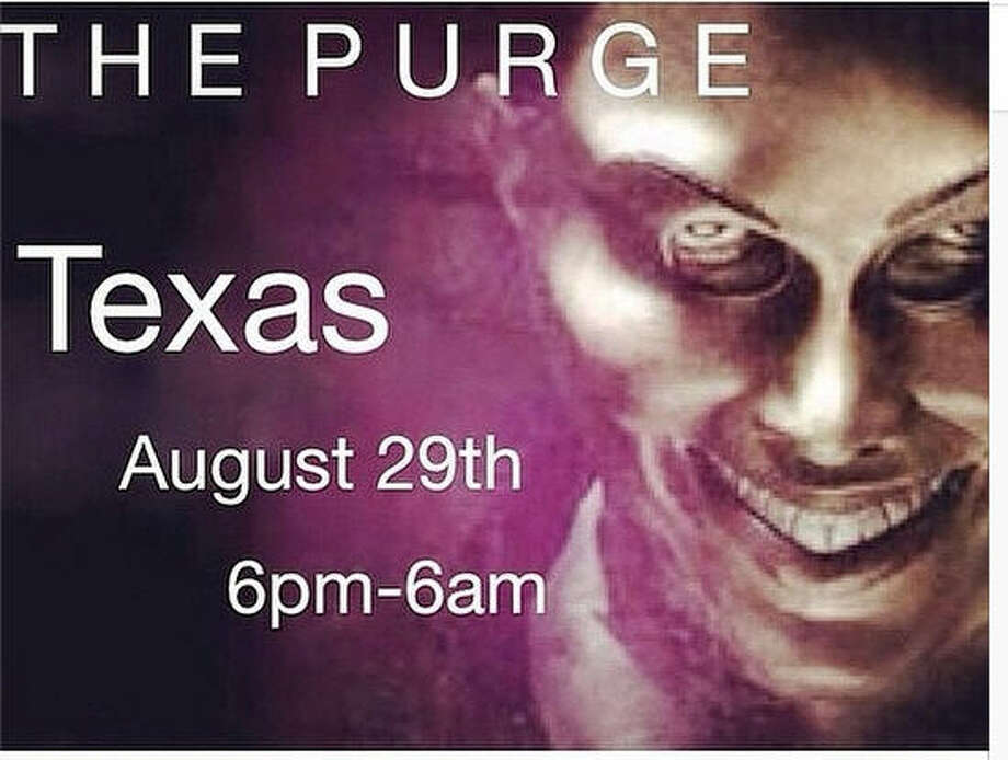 "In the popular ""Purge"" horror film franchise, a government-allowed night of lawlessness leads to anarchy. A social media trend based upon the franchise teases to a real-life version of the Purge taking place in Texas, causing fear for some on Facebook, Instagram and Twitter. Photo: Universal Pictures"