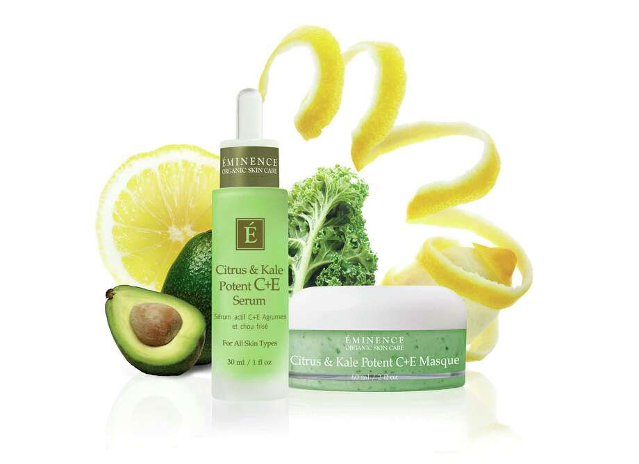 This product image released by Eminence Organic shows Citrus & Kale Potent C&E Serum, left, and Citrus & Kale Potent C&E Masque made with kale. With a boost in popularity as a food and juic, kale has made its way into the beauty industry. (AP Photo/ Eminence Organic) Photo: HONS / Eminence Organic