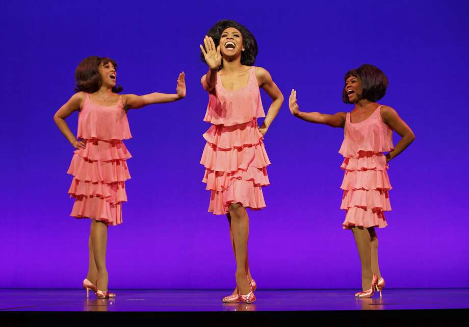 "Allison Semmes as Diana Ross is flanked by the Supremes, Krisha Marcano (left) as Florence Ballard and Trisha Jeffrey as Mary Wilson in ""Motown: The Musical."" Photo: Joan Marcus"